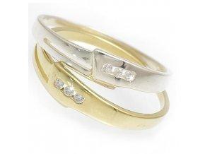 Janus - prsten stříbro 925/1000 (Materiál Pozlacené Stříbro 925 (14K), Velikost 61)