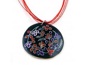 Burgas černý - náhrdelník s přívěskem