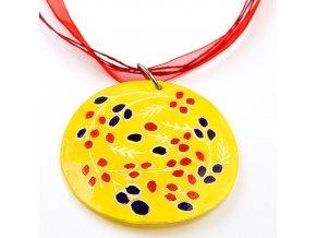 Burgas žlutý - náhrdelník s přívěskem