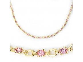 Carmen Pink - řetízek pozlacený