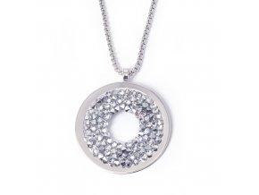 Crystal Rock bílý - náhrdelník s crystaly Swarovski  «F»