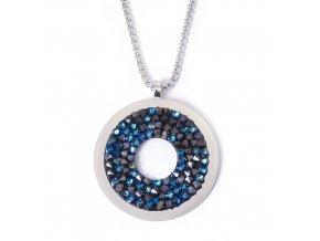 Crystal Rock modrý - náhrdelník s crystaly Swarovski  «F»