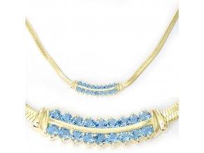 Ester Blue - pozlacený náhrdelník