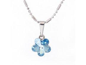 Flora - Aqua - náhrdelník s přívěskem  «F»
