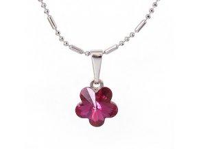 Flora - Fuchsia - náhrdelník s přívěskem  «F»