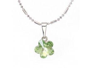 Flora - Peridot - náhrdelník s přívěskem  «F»