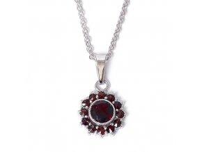 Magdalena - přívěsek granátový šperk - rhodiované stříbro 925/1000
