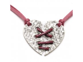 Nikita - náhrdelník srdce - růžová