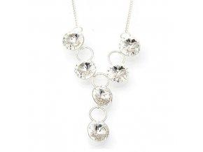 Rivola crystal - náhrdelník stříbro 925/1000