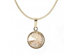 Rivola Gold - Golden Shadow - náhrdelník s přívěskem  «F»