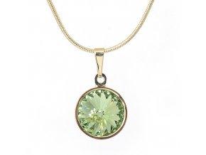 Rivola Gold - Peridot - náhrdelník s přívěskem  «F»