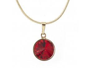 Rivola Gold - Siam - náhrdelník s přívěskem  «F»