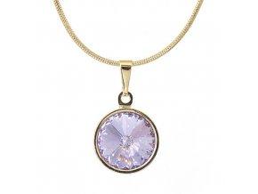 Rivola Gold - Violet - náhrdelník s přívěskem  «F»