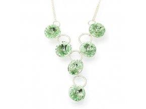 Rivola peridot - náhrdelník stříbro 925/1000