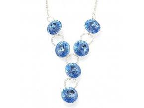 Rivola safir - náhrdelník stříbro 925/1000