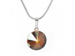 Rivola Vista - Copper - náhrdelník s přívěskem  «F»