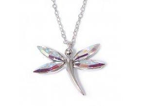 Vážka AB crystal - náhrdelník Swarovski  «F»