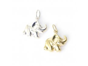 Elephant 2 - přívěsek - stříbro 925/1000
