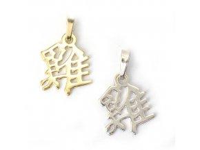 Kohout - znamení čínského horoskopu - stříbro 925/1000