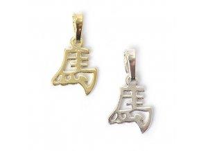 Kůň - znamení čínského horoskopu - stříbro 925/1000