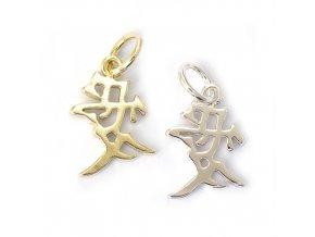 Láska - čínský symbol - stříbro 925/1000