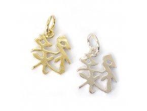 Něha/ něžnost - čínský symbol - stříbro 925/1000