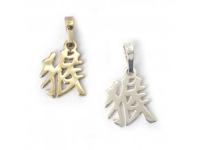 Opice - znamení čínského horoskopu - stříbro 925/1000