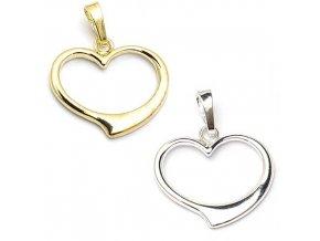 Srdce - přívěsek stříbro 925/1000