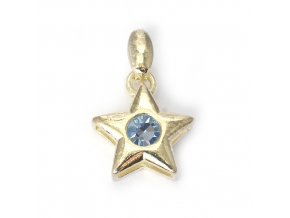 Star Aqua - přívěšek pozlaceno