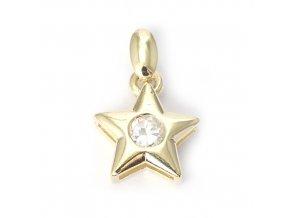Star White - přívěšek pozlaceno