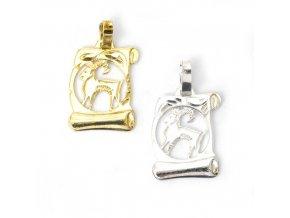 Pergamen Kozoroh - přívěsek horoskop - stříbro 925/1000