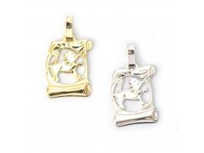 Pergamen Lev - přívěsek horoskop - stříbro 925/1000