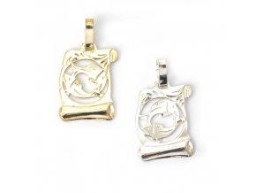 Pergamen Ryby - přívěsek horoskop - stříbro 925/1000
