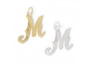 Písmeno M - stříbro 925/1000
