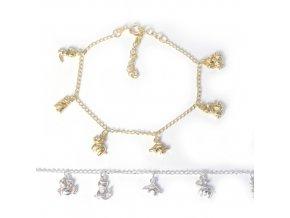 Animals - náramek stříbro 925/1000