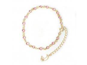 Carina Pink - nákotník pozlacený