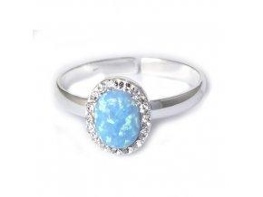 Opal Blue - prsten stříbro 925/1000