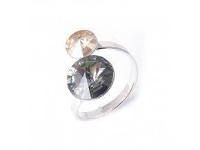 Rivoli Dance Duo Black Diamond - prsten  «F»