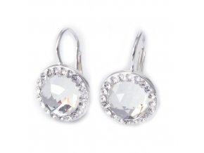 Royal Crystal - náušnice stříbro 925/1000