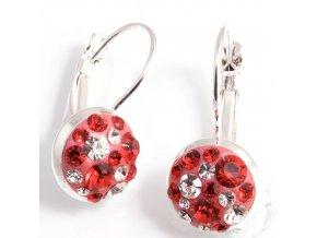 Estrela - náušnice ROSE/RED  kruh (klapka)  «G»
