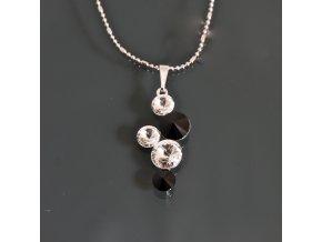 Mulan black - náhrdelník s přívěskem  «F»