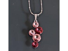Mulan fuchsia - náhrdelník s přívěskem  «F»
