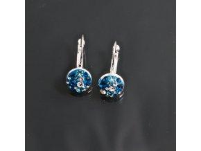 Estrela - náušnice BLUE kruh (klapka)  «G»