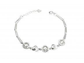 Srdce - stříbrný náramek 925/1000'