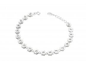 Kvítky  - stříbrný náramek 925/1000'