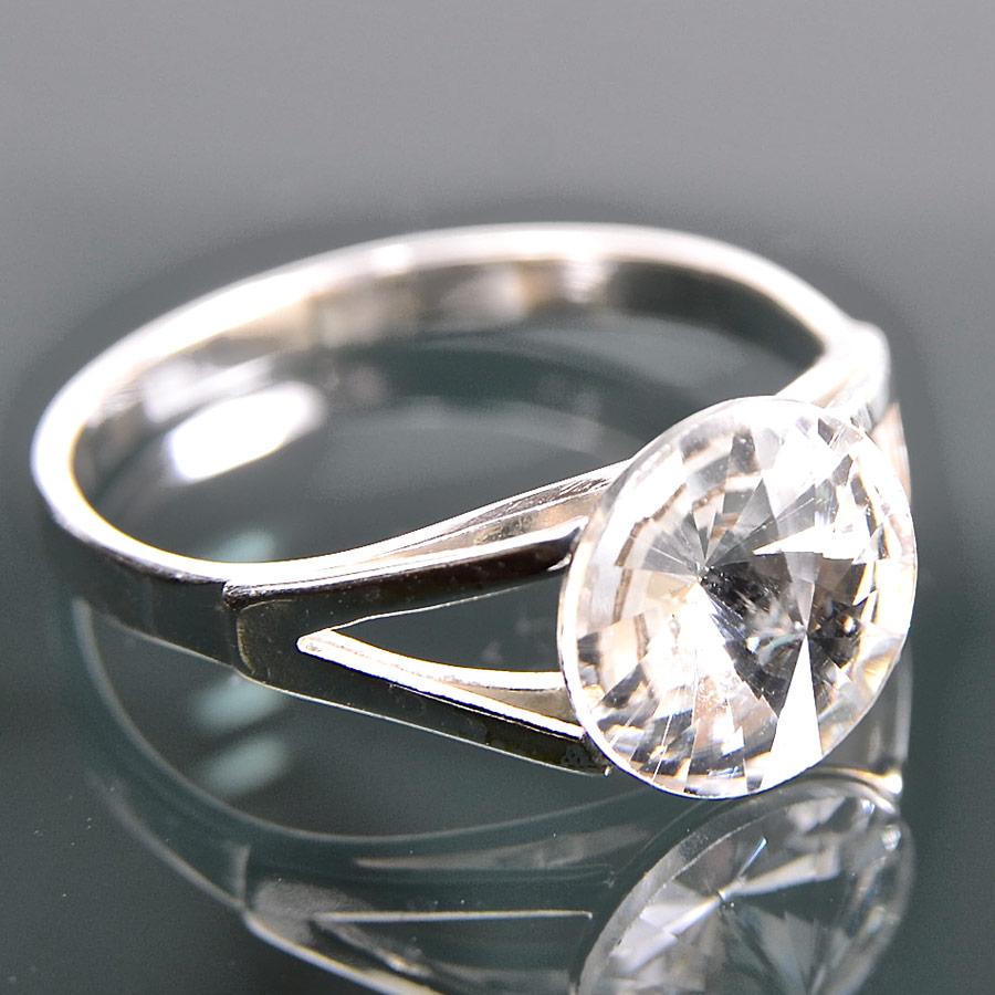 Rivola crystal - prsten stříbro 925/1000 Velikost: 51
