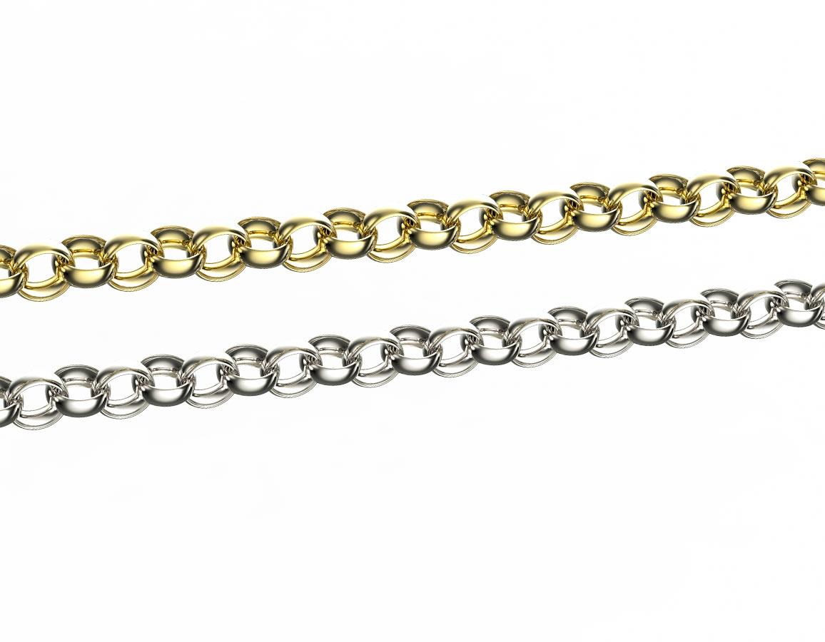 Lentils - řetízek stříbro 925/1000 Materiál: Stříbro 925, Délka: 40 cm