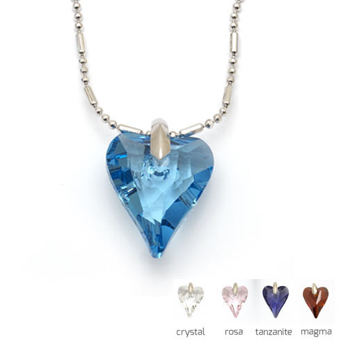 Nicoleta - náhrdelník srdíčko z crystalu Swarovski «F» Délka: Crystal