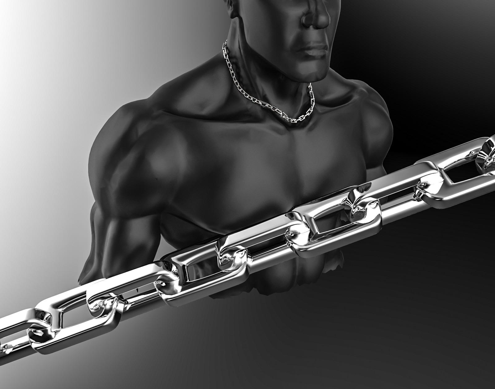 Rektang - náhrdelník nerez Délka: 45 cm