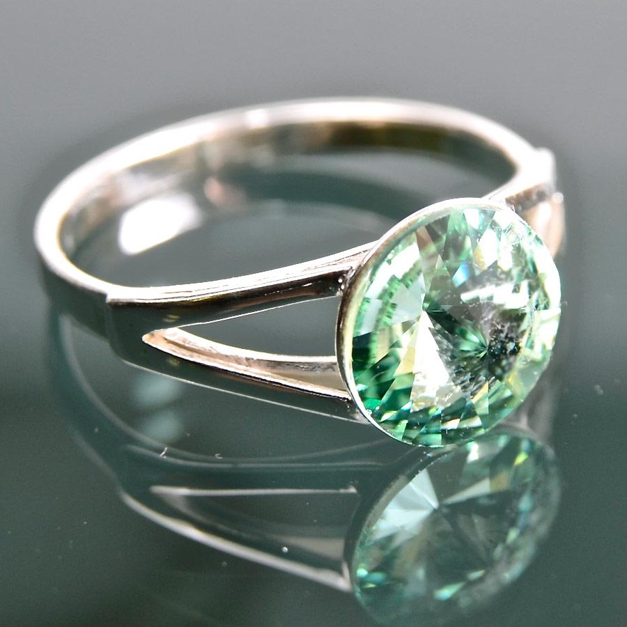 Rivola peridot - prsten stříbro 925/1000 Velikost: 51